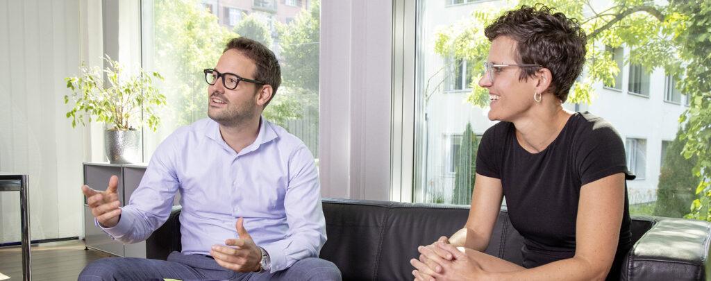 Sandra und Jürg im Interview mit der Kader-Zeitschrift alpha.ch